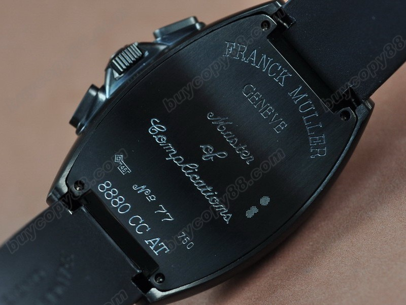 法蘭克穆勒【男性用】Casablanca Chronograph pvd Case Japan OS20  石英機芯搭載6