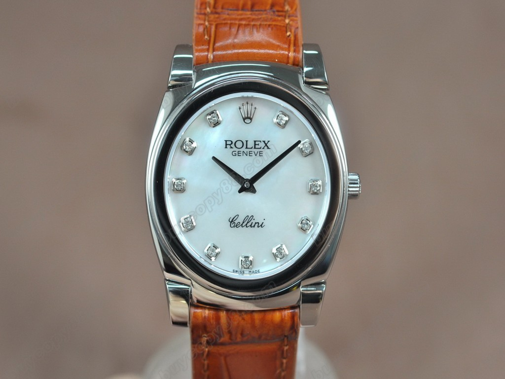 勞力士【男女兼用】Cellini 36mm SS/LE Metal grey dial Ronda 762 石英機芯搭載10
