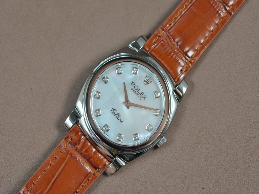 勞力士【男女兼用】Cellini 36mm SS/LE Metal grey dial Ronda 762 石英機芯搭載8