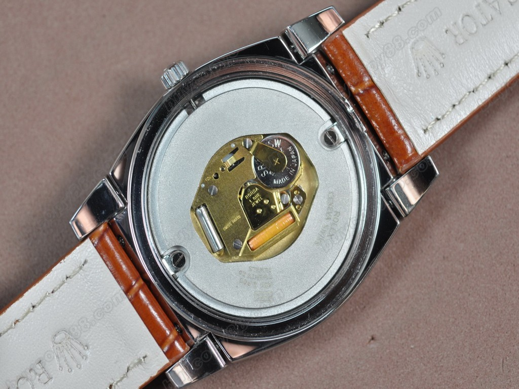 勞力士【男女兼用】Cellini 36mm SS/LE Metal grey dial Ronda 762 石英機芯搭載6